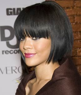 Superb 1000 Images About Hairstyle With Bangs On Pinterest Short Hairstyles For Black Women Fulllsitofus