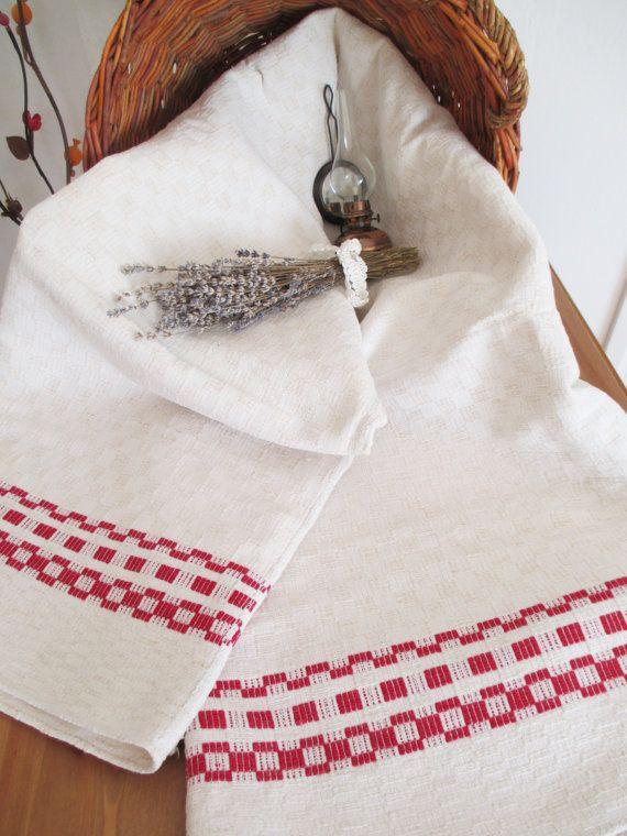 89. Vintage linen rustic homespun handwoven pure flax linen