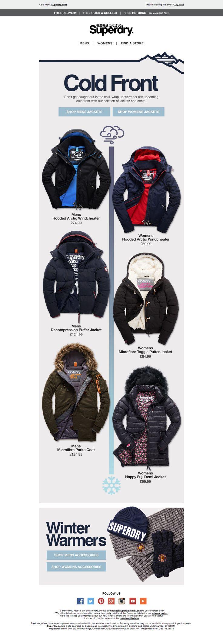 Superdry Cold Weather Email / Newsletter Design