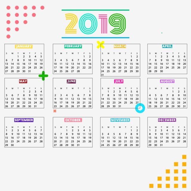 Calender 2019 Calendar Design Template Calendar Design Free
