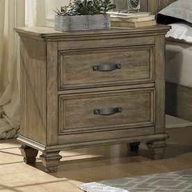 Homelegance Sylvania Driftwood Asian Hardwood Nightstand 2298-4