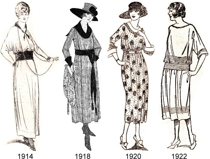 Tuppence Ha'penny: 20th Century Fashion Eras - 1914-1922: Women Fashion, Fashion Timeline, Fashion Era, Dresses Style, Tuppenc Ha Pennies, Fashion History, 20Th Century, 1914 1922, Century Fashion