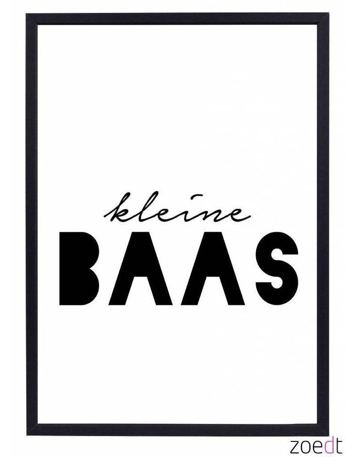 Zoedt poster met tekst Kleine Baas