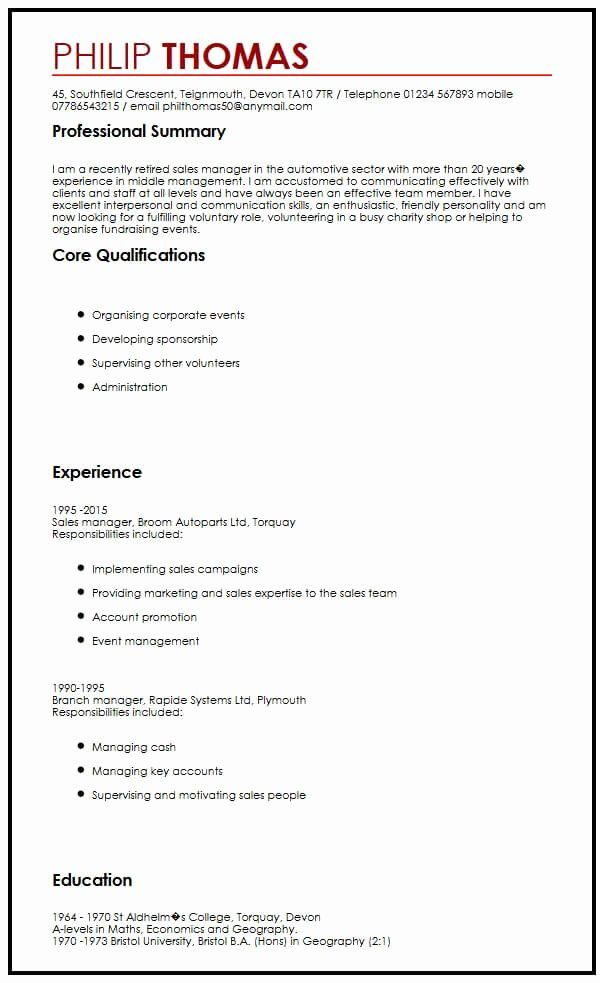 Volunteer Experience Resume Example Awesome Cv Example For Volunteering Myperfectcv In 2020 Teacher Resume Examples Teacher Resume Template Resume Examples