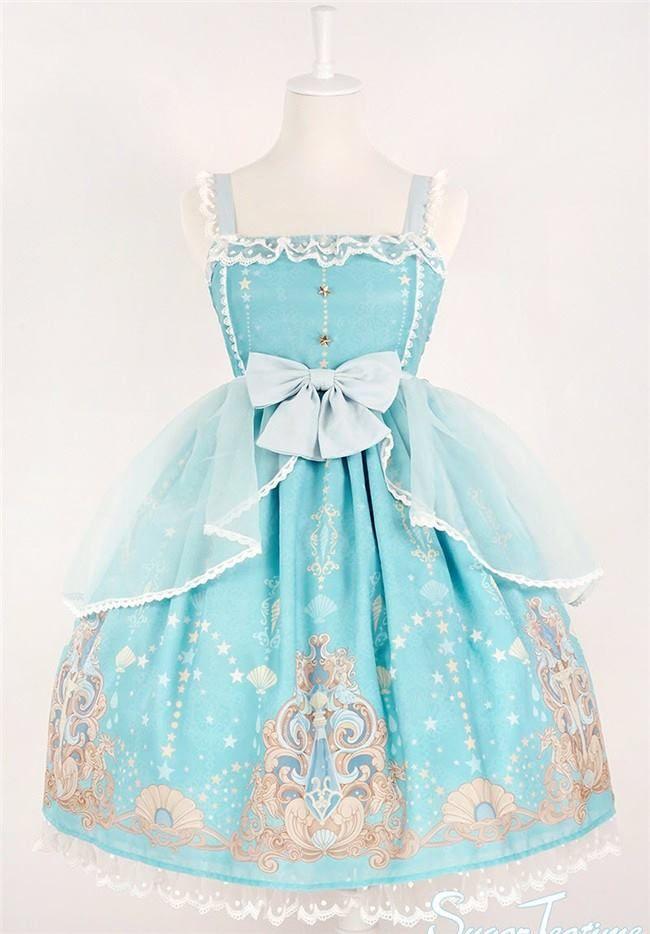 Reminder: [-★-Mermaid's Tears-★-] Lolita JSK I and II Pre-order will END in about 8 Hours Later >>> http://www.my-lolita-dress.com/sugar-teatime-mermaid-s-tears-lolita-jsk-i-and-ii-sut-1