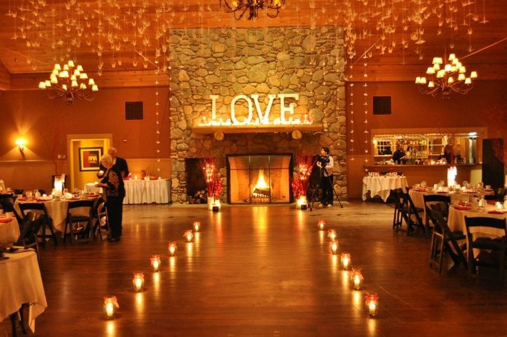 pretty for an inside Idea won't have a fireplace but I like the love sign!