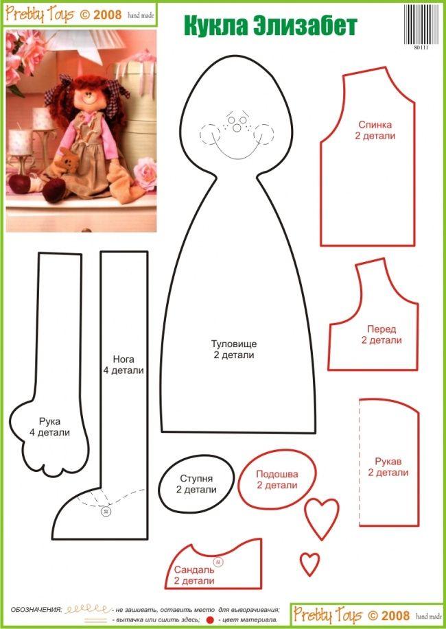 Ragdoll pattern /\ Кукла Элизабет