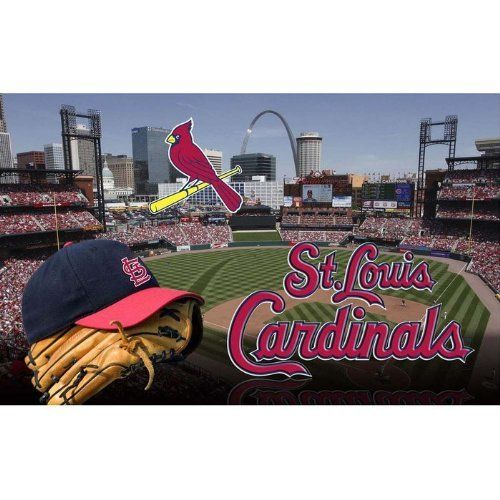 St Louis Cardinals Sublimated Door Mat by Team Sports America. $24.99. non woven polyesther with a recycled rubber backing. 18''x30'' full color. photographic screened imagery. polyester, rubber. These high quality, full color mats are made from non woven polyester and have a recycled rubber backing to ensure prolonged weatherability. Combined, their durability and high resolution graphics make these mats a great addition to a fan's front door. Measures 18 x 30 inches.