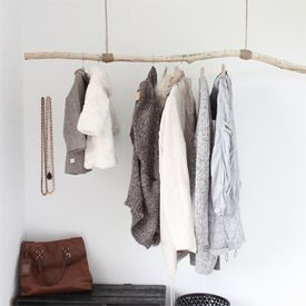 End your autumn hikes taking home a branch, and make your own DIY clothing branch rack for no money!