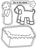 Thumbnail of printable Nativity craft page for Baby Jesus Touch-n-Feel Craft. Fun and easy for preschool children to make.