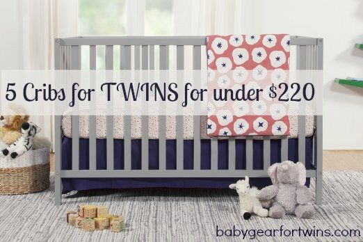 5 cribs for twins, all under $220