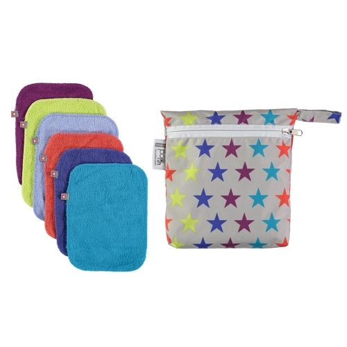 Close Pop-In Wipes 10er + Wetbag - Brights