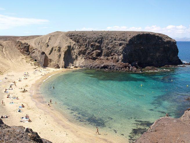 Playa de Papagayo. Isla de Lanzarote. Islas Canarias. España