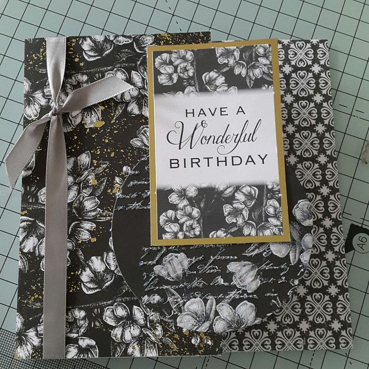 Handmade card using Craftwork Cards Toile De Jouy Jet collection by Mary Gillingham