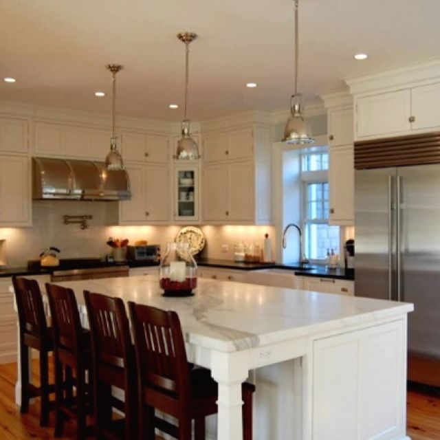17 best ideas about kitchen island seating on pinterest - Kitchen island designs with seating for 6 ...