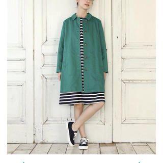 STUDIO CLIP(スタディオクリップ)のステンカラーコート 緑 レディースのジャケット/アウター(スプリングコート)の商品写真