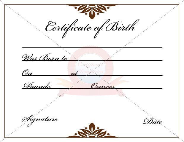 24 best BIRTH CERTIFICATE TEMPLATE images on Pinterest Birth - birth certificate template
