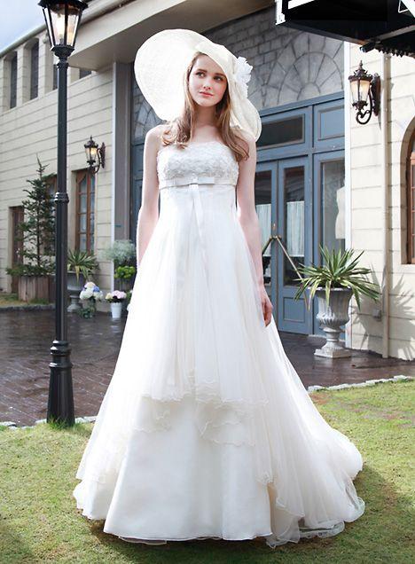 イノセントリーのプライベートブランド*白のエンパイア ウェディングドレス・花嫁衣装のまとめ一覧♡