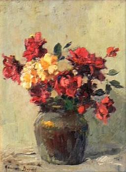 Roses flowers oil painting by Adriaan Boshoff