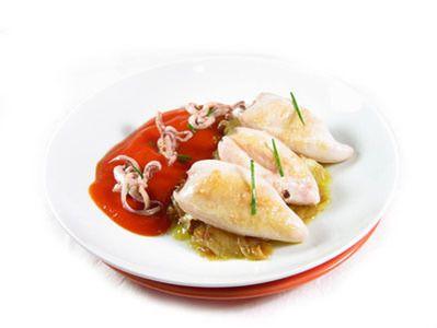 Receta Calamares a la plancha con salsa de tomate