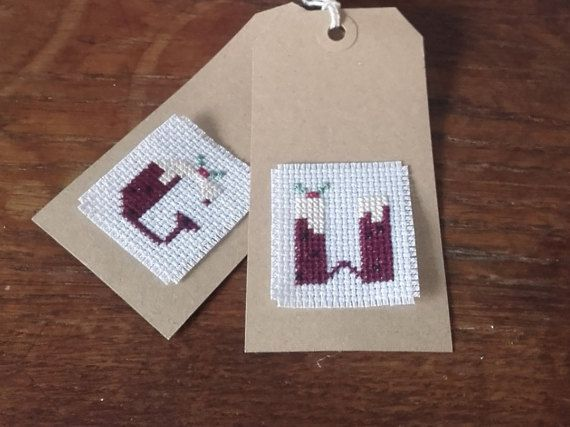 Christmas pudding alphabet sampler counted by CraftwithCartwright as seen in Cross stitch crazy magazine £3.00
