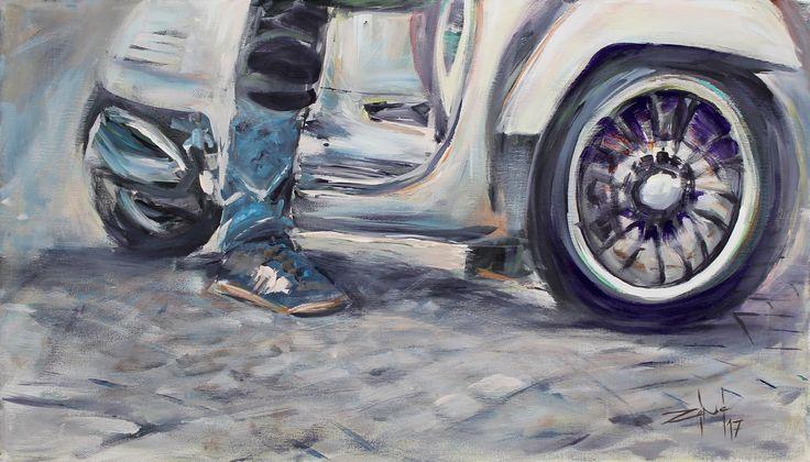 Mentetted ide: Paint creations at Zénó #shoes #paint #painter #painting #tisza #brush #picture #canvas #shoesonthewire #vespa