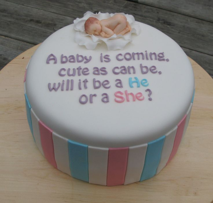 - Gender reveal cake, photo of inside will be send....