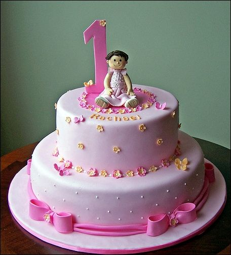 Birthday Cake  Easy Birthday Cake Design For Your Daughter In Pink Color  Easy Made or Simple Kids Birthday Cakes12 best Kids Birthday Cakes images on Pinterest   Birthday ideas  . Easy First Birthday Cake Girl. Home Design Ideas