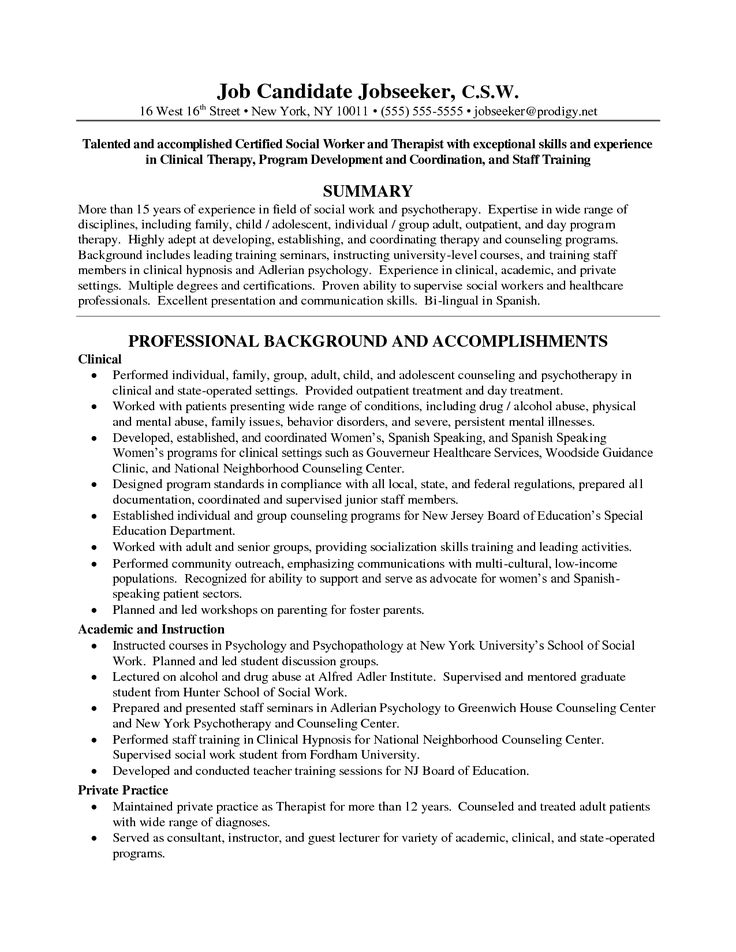 15 best Career images on Pinterest Cover letter sample, Resume - social worker cover letter