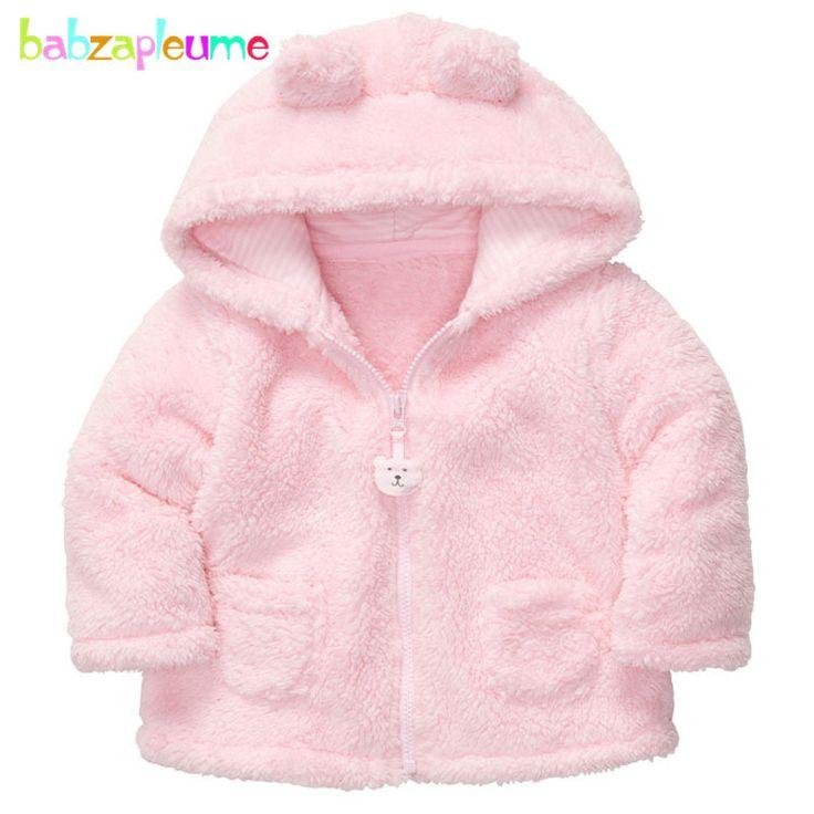 >> Click to Buy << babzapleume 6-24Months autumn winter baby boys girls jacket soft Fleece cartoon cute hooded newborn coat infant outerwear BC1514 #Affiliate