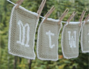 Knitted Dishcloth Pattern With Letters : Organic Dishcloth Pattern crochet, crafts and creativity ...