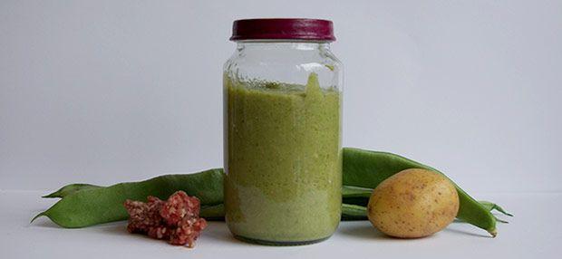 Babybrei - Grüne Bohnen mit Kartoffeln und Hackfleisch