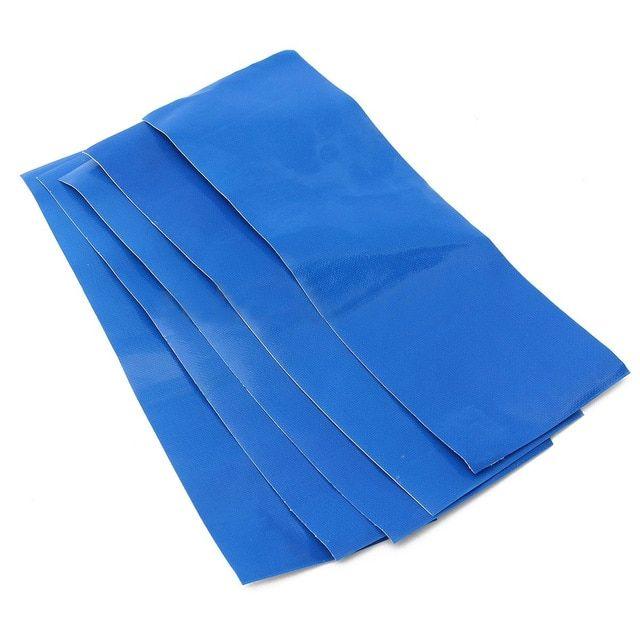 Mayitr 5pcs Set Green Blue Awning Tent Tarpaulin Canvas Canopy Waterproof Adhesive Repair Tape Patches Tent Repair Acc Canvas Canopy Tarpaulin Tent Accessories