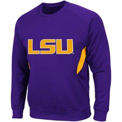 LSU Tigers Renegade Pullover Sweatshirt - Purple (Medium)
