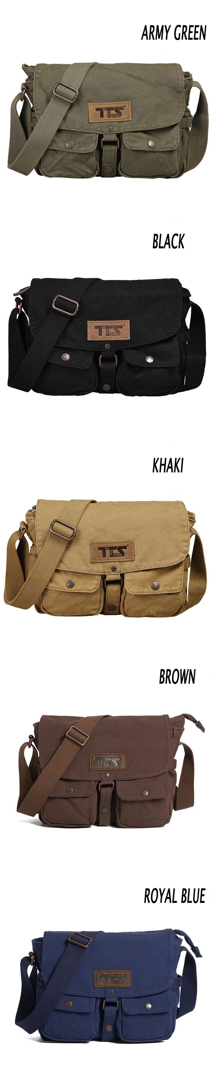 35$** Men's Women Canvas Shoulder Messenger School Book Bag Satchel Crossbody bag (GY01) #canvas #bag #men #women #school #satchel