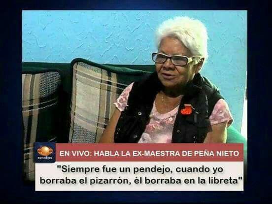 Maestra de Peña Nieto