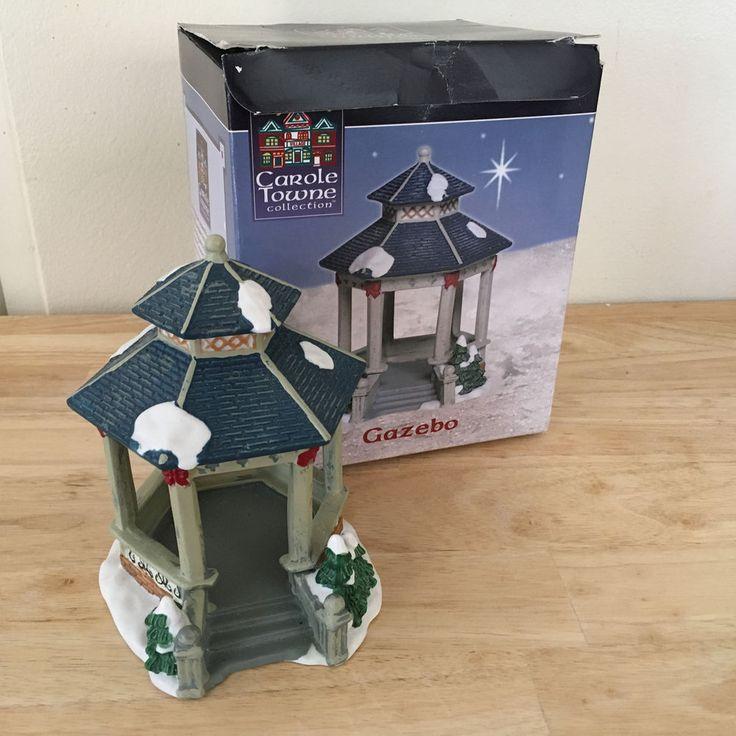 Carole Towne Victorian Village Gazebo Figurine EUC In original packaging #VictorianVillage