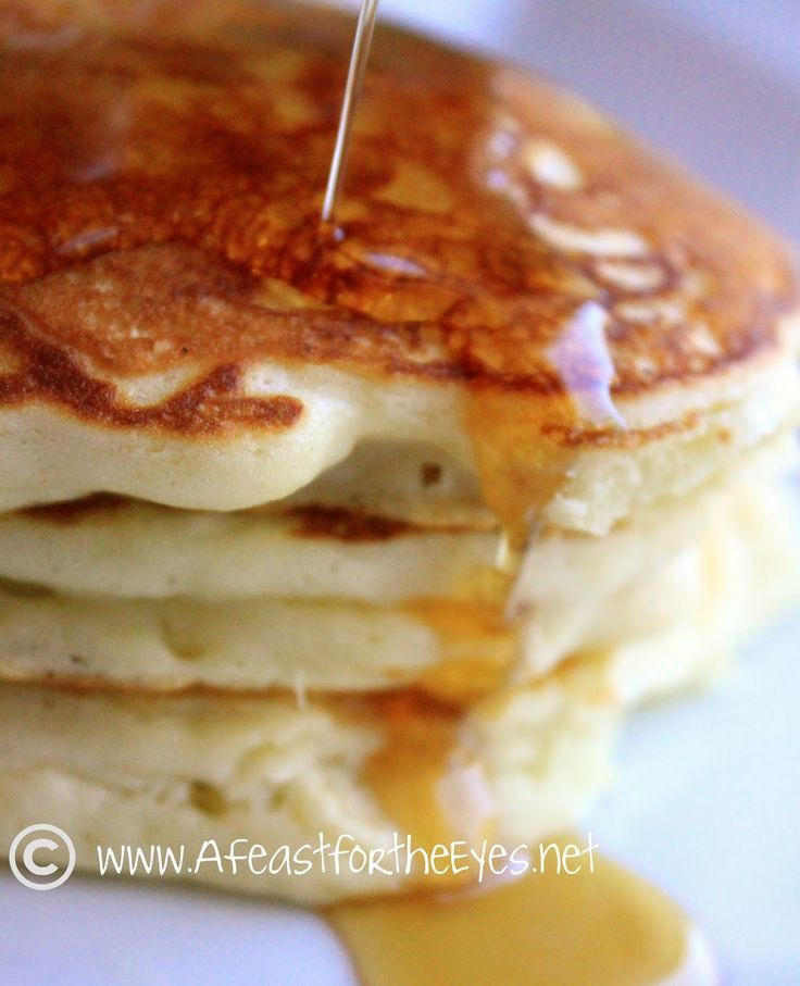 A Feast for the Eyes: Buttermilk Pancakes, for Two