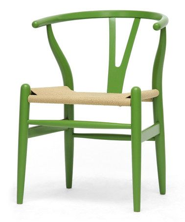 Loving this Green Mid-Century Wishbone Chair - Set of Two on #zulily! #zulilyfinds