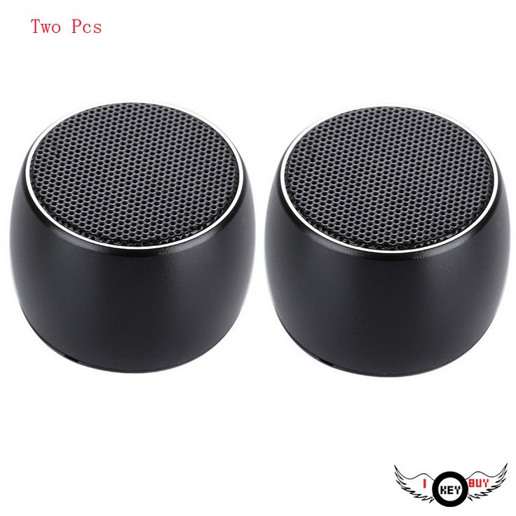 2PCS High Quality Black Metal Wireless Mini Bluetooth Small Speaker Call Function Self Timer Series Magnetic