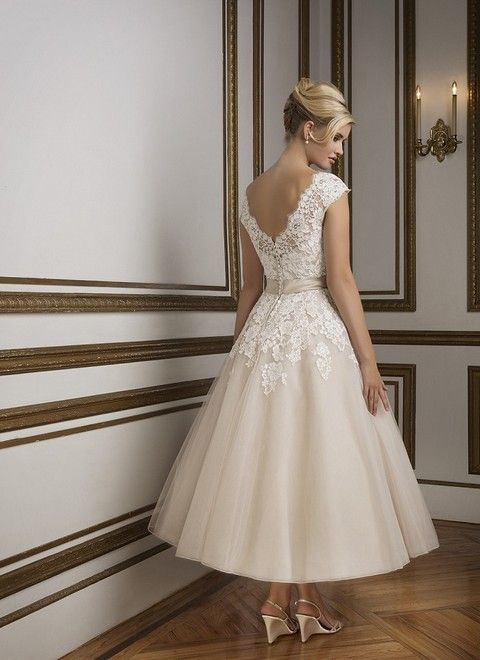 A svadobné šaty krajkové midi  svadobny salon valery justin alex 8815 a