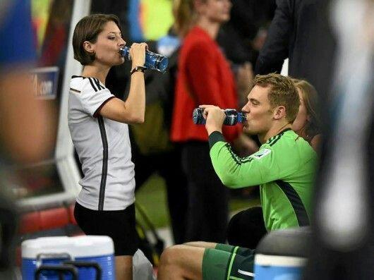 Goalkeeper Manuel Neuer and girlfriendKathrin Glich