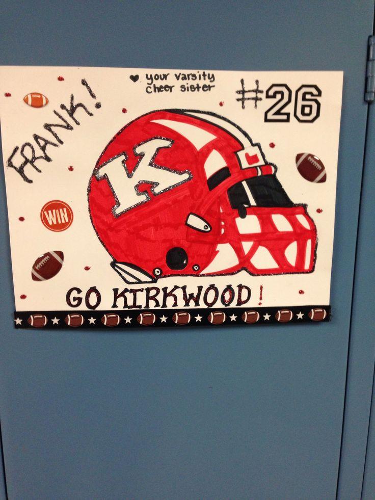 Football locker signs
