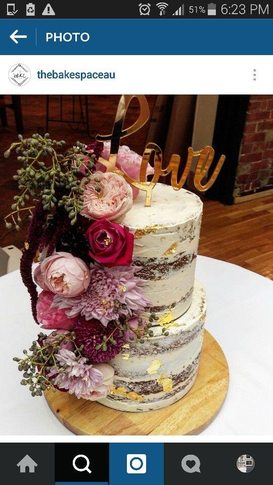 Seminaked cake. Love