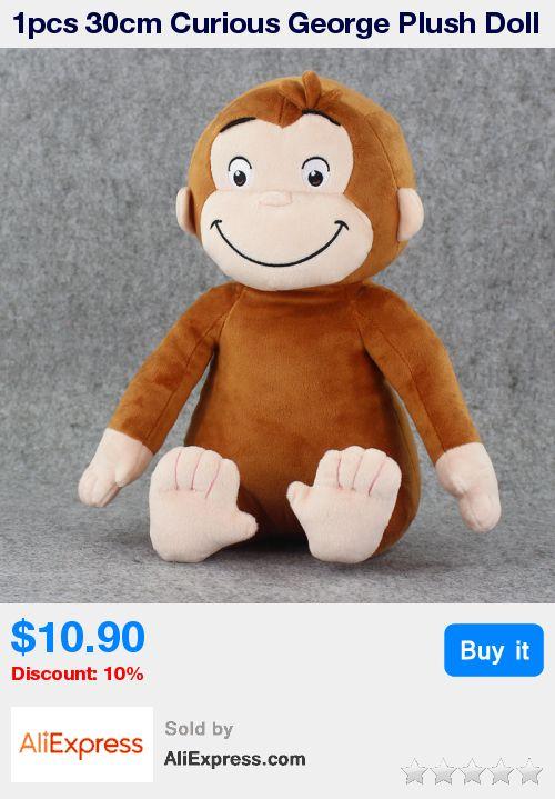 1pcs 30cm Curious George Plush Doll Boots Monkey Plush Stuffed Animal Toy * Pub Date: 00:45 Apr 12 2017