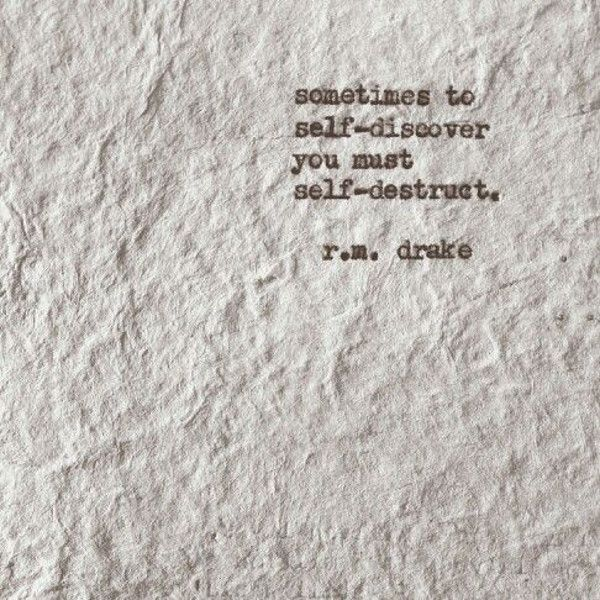 R.M Drake - but we think 'self-reconstruct'                                                                                                                                                      More