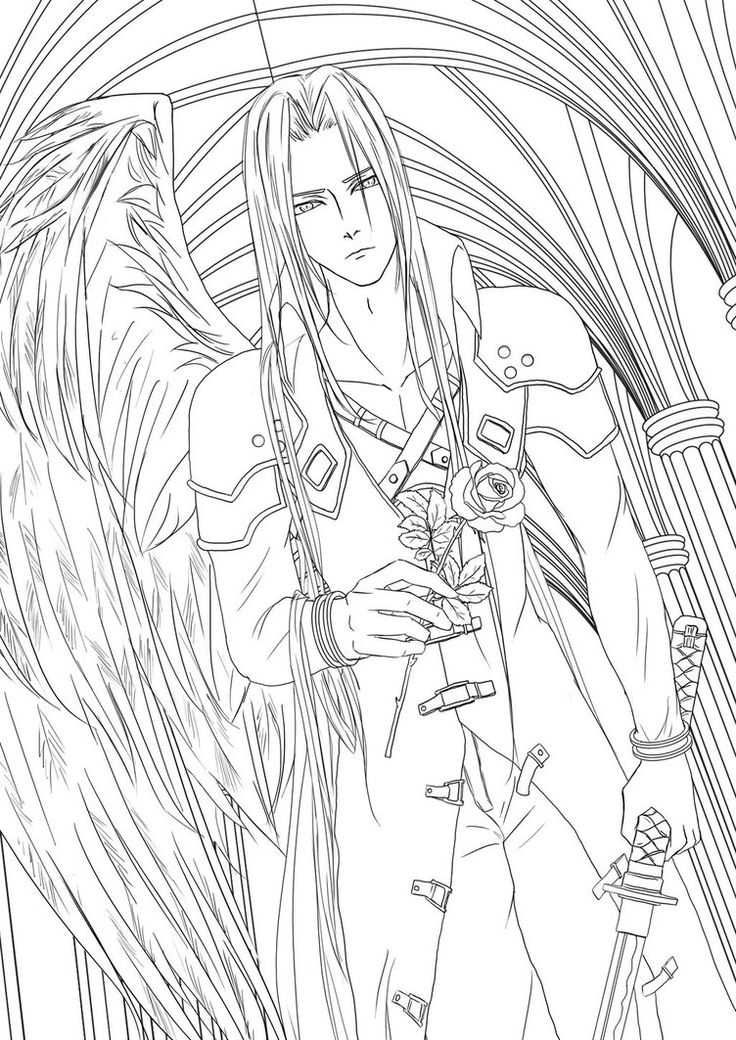Final fantasy vii coloring pages coloring pages for Final fantasy coloring pages
