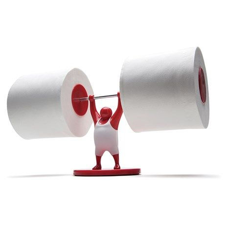 Toalettpappershållare - Mr T, Röd