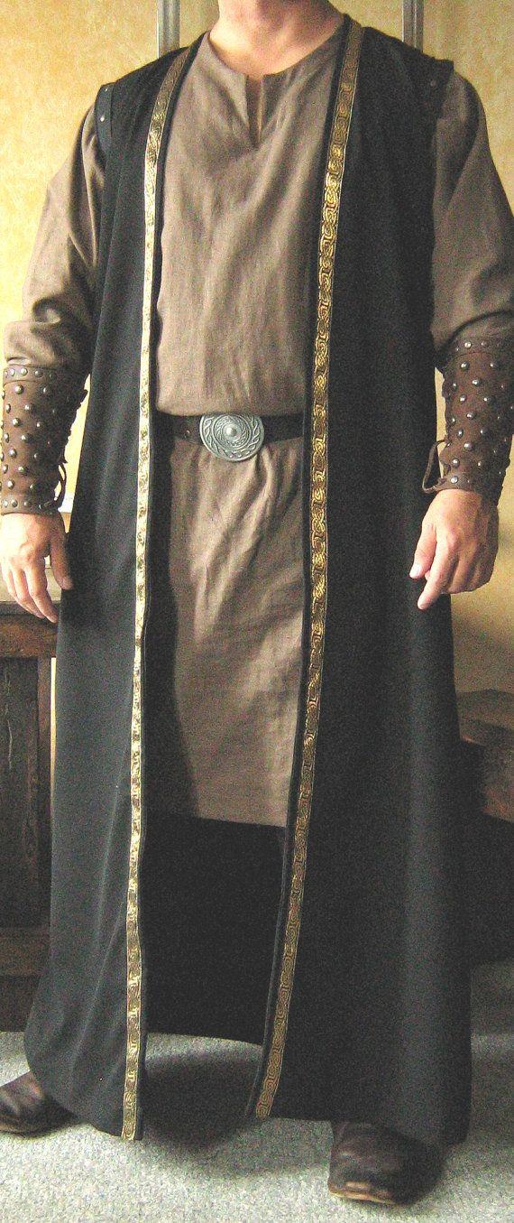 Roi de Seigneur médiéval Celtic manteau sans manches gilet veste