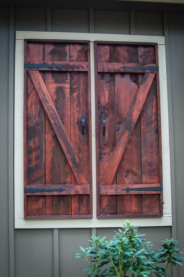 25 best faux window ideas on pinterest - Exterior wooden shutters for windows ...